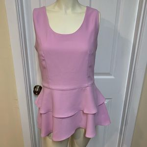 Versona lavender tiered peplum top size small